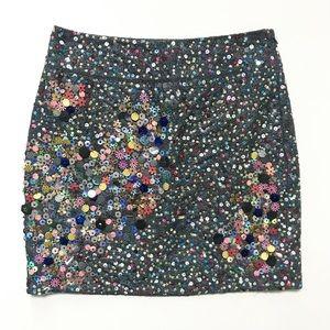 Anthropologie Sequin Confetti Skirt